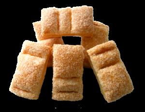 Sfogliatine rettangolari con granella di zucchero